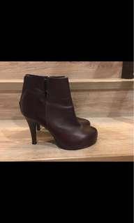 🚚 韓店 牛皮踝靴