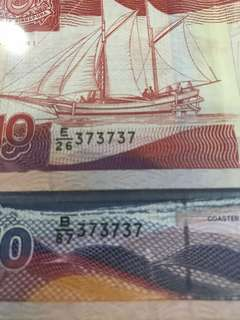 Fancy double no -373737 set of 2 - $10 & $50 Ship 🚢