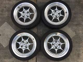 enkei evo rs ring 16 pcd 4.114 lebar 7