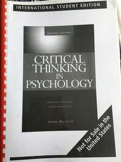 🚚 Critical Thinking in Psychology