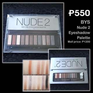 BYS Nude 2 Eyeshadow Palette