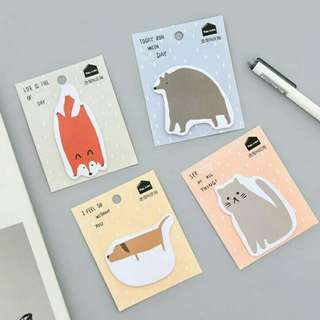🚚 P.O. Post It Note (set of 4) animal