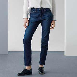 Uniqlo WOMEN Boyfriend Fit Ankle Jeans~NEW