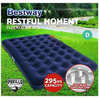 BESTWAY (67002) Portable Premium Series Inflatable Double Bed Air Mattresses