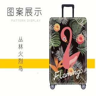 行李箱套保护套 Washable Travel Luggage Protector - Flamingo