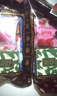 2 sets! madam heng special gifts soaps sets