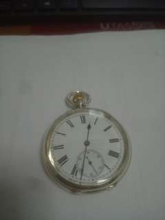 High grade 0.935 silver Frodsham serviced in good condition Pocket watch.