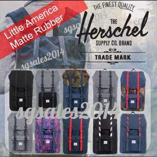 🚚 ✅[INSTOCK] 100% Authentic Herschel Little America - Mid & Full Volume Matte Rubber