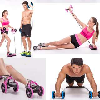 Gym wheel rollers abdominal toner