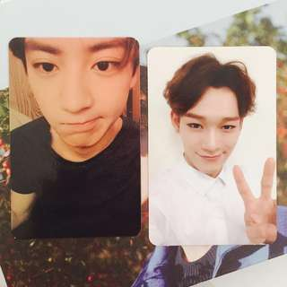 EXO Official Exodus Photocards: Chen & Chanyeol