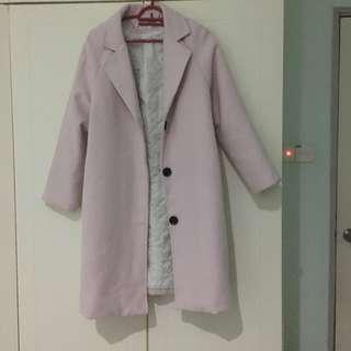 Dust Pink Winter Coat