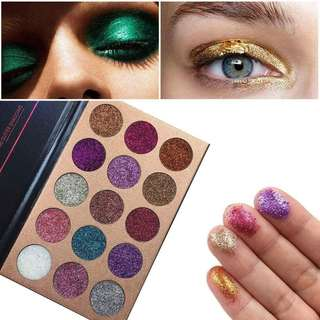 readystock BEAUTY GLAZED Pressed Glitters Eyeshadow Diamond Rainbow MakeUp