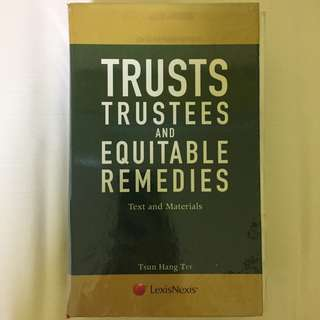 Trusts, Trustees and Equitable Remedies