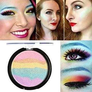 readystock FOCALLURE 6 Colors Rainbow Highlighter Palette