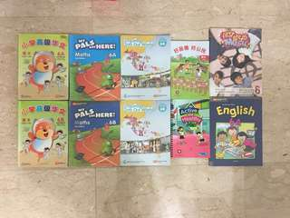 Assorted primary textbooks fr P4-6