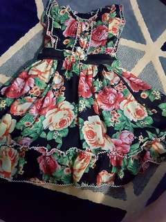 Dress lovely lace 3-4yo