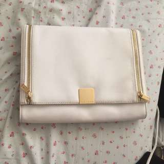 white ted baker london clutch