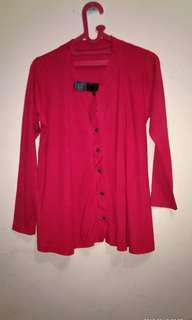 Kaos kancing merah NET