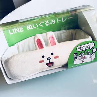 BNIB Authentic Line Friends soft Case Container for desk, bedroom, bathroom, car, mobile handphone cell tablet toys keys remote stationaries
