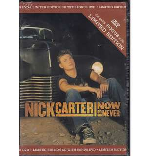Nick Carter: <Now or Never> CD with Bonus DVD - Limited Edition (Brand New)