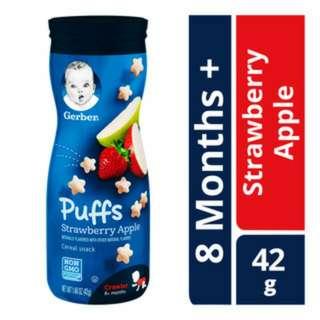 Gerber Graduates Baby Puffs - Strawberry Apple 42g