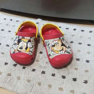 Original Crocs Mickey Mouse glow in the dark slippers sandals slip ons clogs for kids