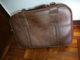 懷舊 旅行箱 皮喼 皮箱 Vintage luggage hand carry with Damage