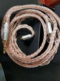 全新冷涷8絞7N銀銅混織耳機升級線 fender shure westone campfire 等mmcx 耳機可用