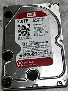 W2S used WD RED NAS 2TB Harddisk