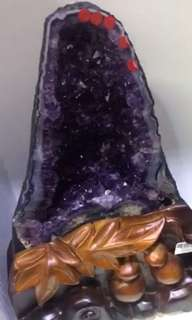 Amethyst geode fire cave 紫水晶🔮洞