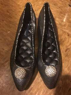 100% brand new leather flat shoes