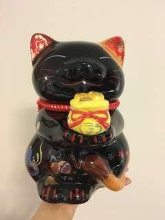 Rare Black Lucky Cat 福禄寿招财猫。