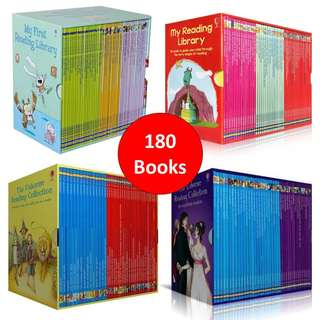 🚚 Usborne Reading Library & Collection (4 Sets Total 180 Books)