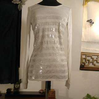 NEW A/X Armani Exchange  Sequin Top 全新 A/X Armani Exchange  珠片衫 上衣 長袖衫