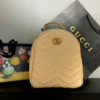 Gucci Backpack Khaki Color