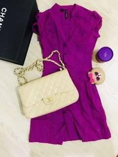 Mango purple dress