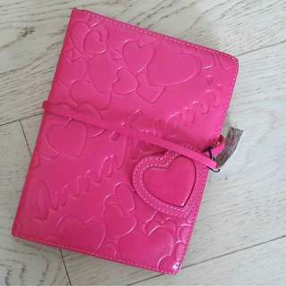 Pink Notebook with Textured Cover