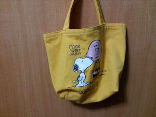 peanuts lunch box bag