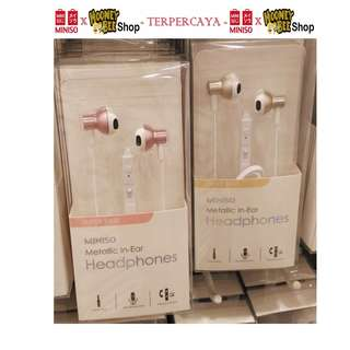 Miniso - Metallic In-Ear Headphones Model B338i Headset