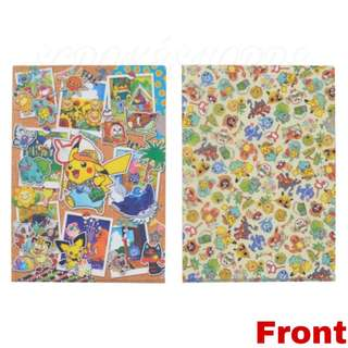 [PO] A4 CLEAR FILE SET [SUMMER LIFE] - POKEMON CENTER EXCLUSIVE