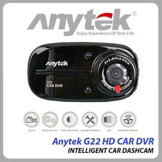 Car DVR ANYTEK G22 120 Degree Wide Angle DVR