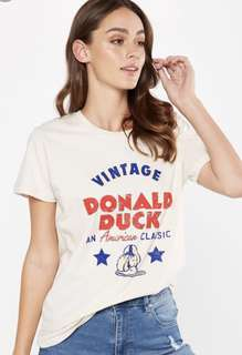 Cotton on tbar fox graphic t shirt disney donald duck coca cola coke limited edition exclusive