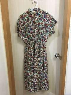 🚚 ✨古著✨日本🇯🇵連袖洋裝