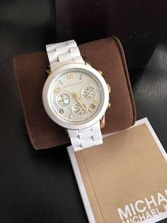 MK CERAMIC WHITE DIAL AUTHENTIC WATCH