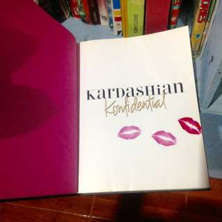 Hard cover black pink kardashian konfidential thick book