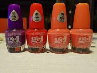 L.A colors nail polish ( gel effect )