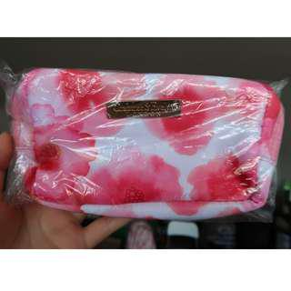 Pink floral makeup pouch travel Crabtree & Evelyn