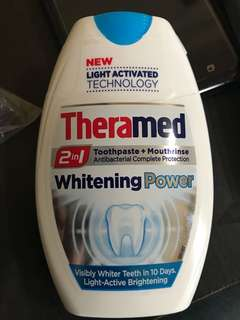 Theramed Whitening Power Toothpaste and Mouthrinse