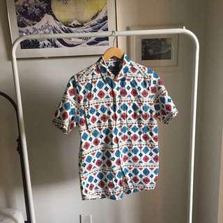Topshop buttonup t-shirt