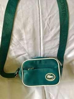 Lacoste green body bag-small